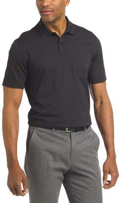 Van Heusen Short Sleeve Stripe Knit Polo Shirt