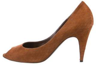Bruno Magli Quilted Suede Pumps