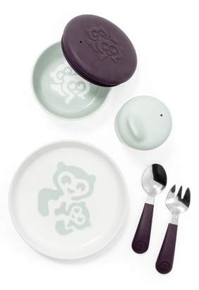 Stokke Munch Complete Lidded Bowl, Sippy Cup, Plate, Fork & Spoon Set