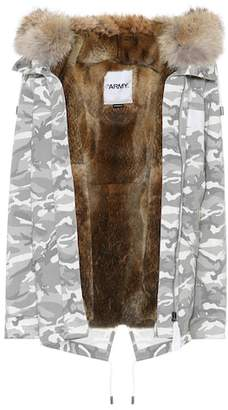 Yves Salomon Army Fur-trimmed camouflage jacket