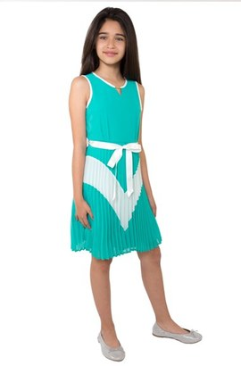 Girl's Blush By Us Angels Sleeveless Colorblock Dress $59 thestylecure.com