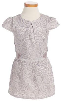 Toddler Girl's Ruby & Bloom Floral Jacquard Dress $55 thestylecure.com