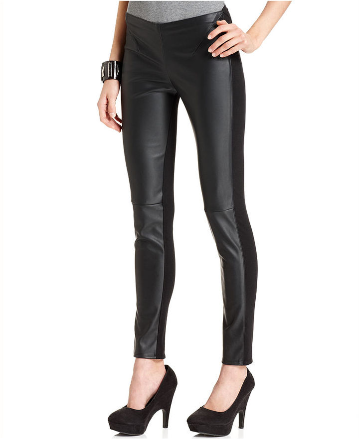 Vince Camuto TWO by Pants, Faux-Leather Knit Leggings