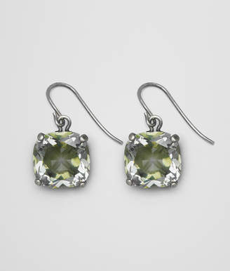 Bottega Veneta CHAMOMILE CUBIC ZIRCONIA/OXIDIZED SILVER EARRINGS