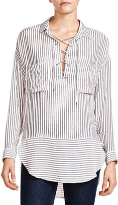 The Kooples Cord Stripes Collared Shirt