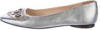 Kate SpadeKate Spade New York Embellished Metallic Flats