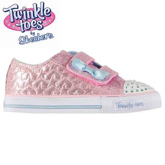 Skechers Twinkle Toes Shuffles Starlight Infant Girl Trainers Shoes Glitter