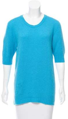 Agnona Cashmere Short Sleeve Sweater