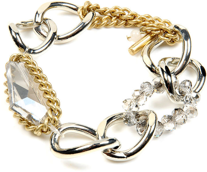 Kenneth Cole New York Bracelet, Chain and Bead Stretch Bracelet