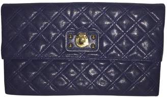 Marc Jacobs Navy Leather Clutch Bag