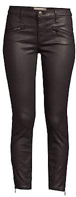 Current/Elliott Women's The Soho Zip Stiletto Coated Skinny Jeans