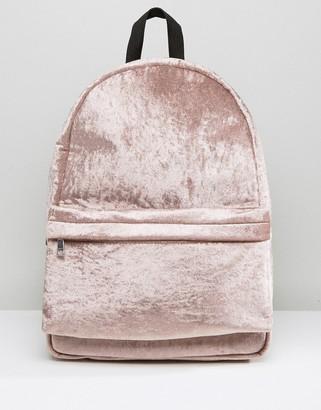 Asos Velvet Backpack