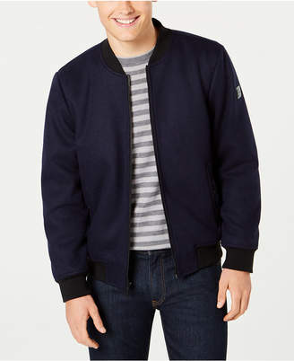 Kenneth Cole Men Wool Bomber Jacket