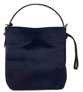 HUGO BOSS Gallery Collection bucket bag in premium Italian calf fur