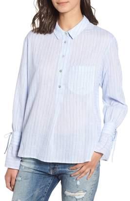 Heartloom Jax Tie Sleeve Cotton Blouse