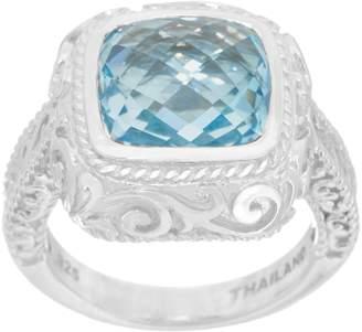 Delatori DeLatori Sterling Silver Faceted Gemstone Ring