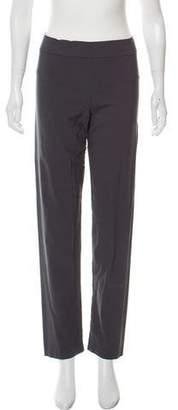 Avenue Montaigne Mid-Rise Straight-Leg Pants