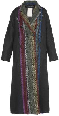 Marco De Vincenzo Striped Coat