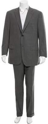 Isaia Wool Pinstripe Suit