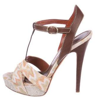 Missoni Leather Ankle-Strap Sandals