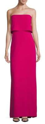Halston Straight Across Column Gown