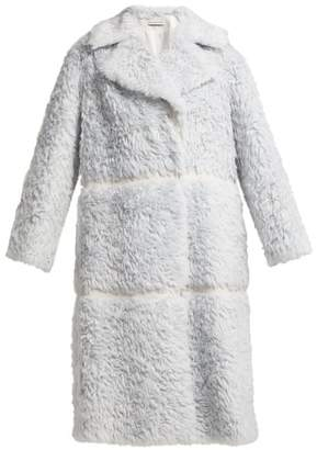 Vika Gazinskaya Oversized Faux Fur Coat - Womens - Light Blue