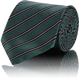 Brioni Men's Striped Silk Satin Necktie