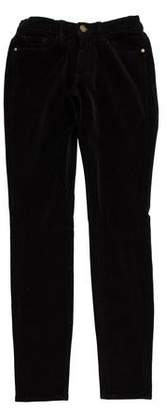 Frame Low-Rise Velveteen Pants