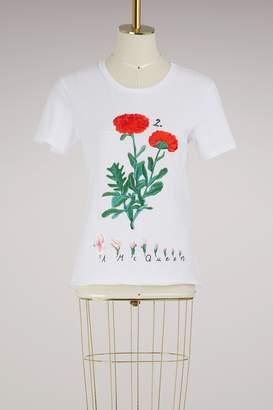 Alexander McQueen Botanical embroidered T-shirt