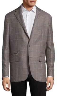Corneliani Checkered Wool Jacket