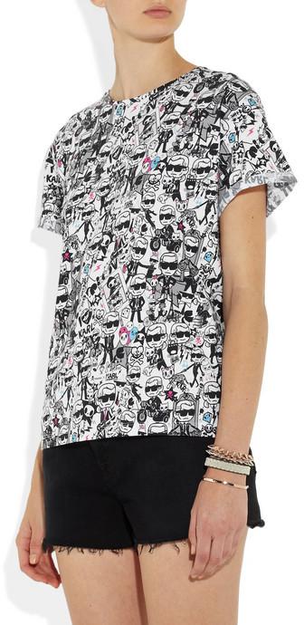 Karl Lagerfeld + tokidoki printed cotton-jersey T-shirt