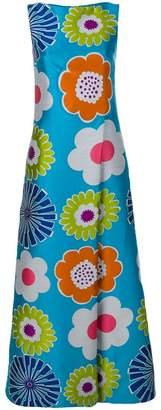 Talbot Runhof floral sleeveless dress