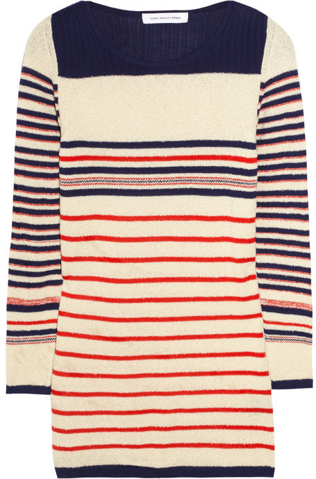 Etoile Isabel Marant Malo striped cotton-blend sweater