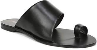 Diane von Furstenberg Brittany Leather Flat Slide Sandals