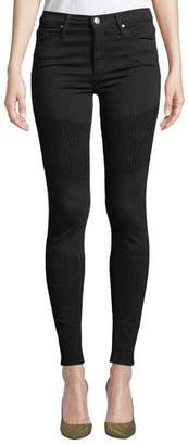 Black Orchid Gisele High-Rise Super Skinny with Moto Detail