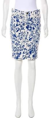 Diane von Furstenberg Denim Knee-Length Skirt