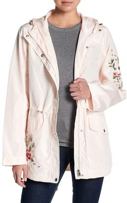 Coffee Shop Floral Embroidered Anorak