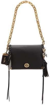 Coach Charms Leather Bag W/ Logo Chain
