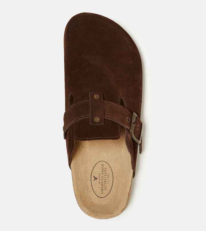 AEO Buckled Suede Clog 5