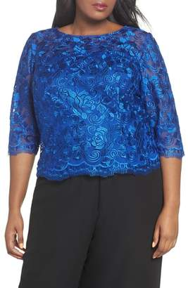 Alex Evenings Embroidered Blouse