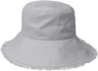Physician Endorsed Women's Castaway Canvas Bucket Sun Hat with Fringe, Rated UPF 50+ for Max Sun Protection