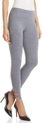 Jessica Simpson Grey Crisscross Cuff Leggings