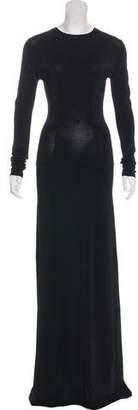 Alaia Long Sleeve Evening Dress