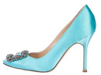 Manolo Blahnik Hangisi Satin Pumps