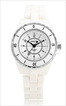 [dream Japan] 腕時計 セラミック バンド ウォッチ セレブ風 白 ホワイト シルバー