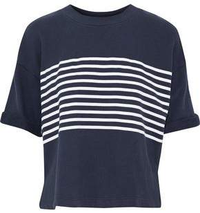 Joie Saneya Oversized Striped Cotton-Terry T-Shirt