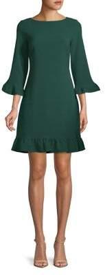 Eliza J Flounce-Trim Flare Dress