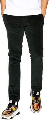 Topman Stretch Skinny Fit Corduroy Pants