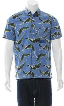 Valentino Bird Print Popover Shirt w/ Tags