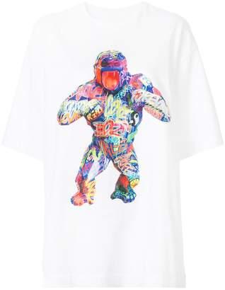 Juun.J gorilla print T-shirt